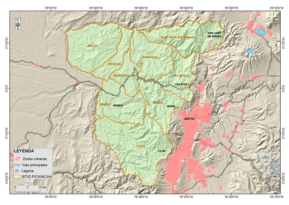 Mapa Pichincha-Ecuador
